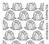 decorative flower pattern... | Shutterstock .eps vector #534906706