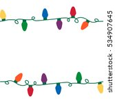 christmas lights seamless... | Shutterstock .eps vector #534907645