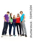 group of teenagers | Shutterstock . vector #53491204