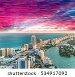 helicopter view of south beach  ... | Shutterstock . vector #534917092
