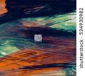 brush stroke and texture.... | Shutterstock .eps vector #534930982