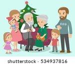 big family celebrates christmas.... | Shutterstock .eps vector #534937816