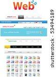 web 2.0 series  navigation bars ... | Shutterstock .eps vector #53494189