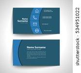 modern simple business card set ... | Shutterstock .eps vector #534951022