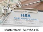 health savings account hsa...   Shutterstock . vector #534956146