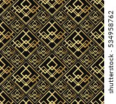 seamless pattern in art deco... | Shutterstock .eps vector #534958762