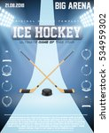 poster template ice hockey... | Shutterstock .eps vector #534959302