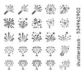 firework icon set 12  vector... | Shutterstock .eps vector #534962902