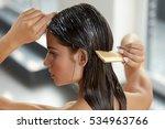 hair beauty. closeup of... | Shutterstock . vector #534963766