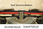 your opinion matters typed... | Shutterstock . vector #534970525