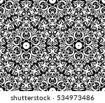 abstract oriental floral... | Shutterstock .eps vector #534973486
