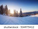 winter landscape in mountains...   Shutterstock . vector #534975412