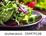 fresh salad plate with mixed... | Shutterstock . vector #534979138
