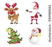 new year set. symbols of the... | Shutterstock .eps vector #534980062