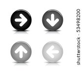 round internet web button with... | Shutterstock .eps vector #53498200