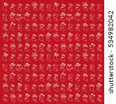 retro style christmas pattern.... | Shutterstock .eps vector #534982042