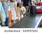 closeup lines of people waiting ...   Shutterstock . vector #534992332