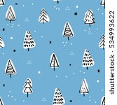 christmas seamless vector... | Shutterstock .eps vector #534993622
