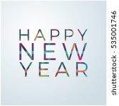 vector 2017 happy new year...   Shutterstock .eps vector #535001746