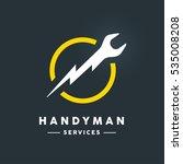 concept handyman services logo... | Shutterstock .eps vector #535008208