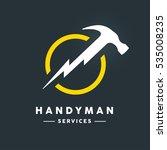 concept handyman services logo... | Shutterstock .eps vector #535008235