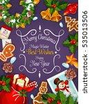 merry christmas poster  new...   Shutterstock . vector #535013506