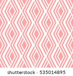 Stock vector abstract geometric pattern by lines rhombuses a seamless vector background white and pink texture 535014895