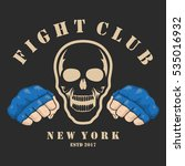 emblem about fighting club.... | Shutterstock .eps vector #535016932
