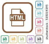html file format simple icons... | Shutterstock .eps vector #535019395
