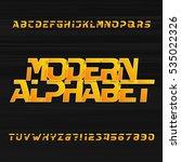 modern alphabet vector font....   Shutterstock .eps vector #535022326