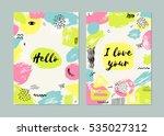 trendy set of brush strokes... | Shutterstock .eps vector #535027312