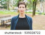 portrait of young beautiful... | Shutterstock . vector #535028722
