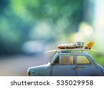 Old Classic Retro Car With Surf ...