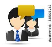 businessman woman comments | Shutterstock .eps vector #535038262