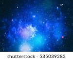 colorful starry night sky outer ... | Shutterstock . vector #535039282