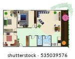 architecture plan with... | Shutterstock .eps vector #535039576