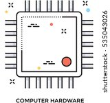 processor chip vector icon   Shutterstock .eps vector #535043026