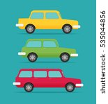 set of cars  vector flat style | Shutterstock .eps vector #535044856
