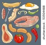 cartoon food grill   clip art... | Shutterstock .eps vector #53504488