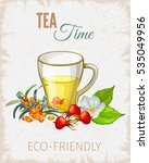 tea poster. vintage paper flyer ...   Shutterstock .eps vector #535049956