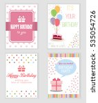 happy birthday  holiday ... | Shutterstock .eps vector #535054726