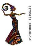 woman in a beautiful dress in... | Shutterstock .eps vector #53506159