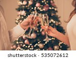 cheers close up photo of two... | Shutterstock . vector #535072612