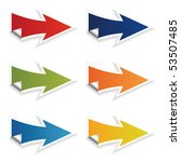 colored arrows vector | Shutterstock .eps vector #53507485