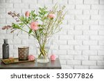 beautiful bouquet of flowers in ... | Shutterstock . vector #535077826