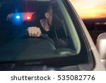 Small photo of Male drunk driver chased by police. Driving under alcohol influence