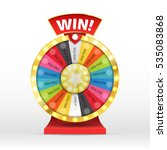 colorful wheel of luck or... | Shutterstock .eps vector #535083868