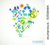 modern ecology vector background | Shutterstock .eps vector #53508484