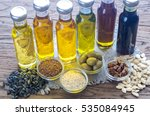 bottles with different kinds of ... | Shutterstock . vector #535084945