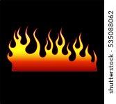 flame vector tribal. flame... | Shutterstock .eps vector #535088062